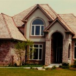 Exterior selections of roofing, brick siding, stucco colors, soffit and faces colors.