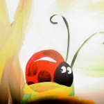 """Lady Bug"" hand painted mural."